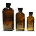 Amber glass bottles for Feng Shui water treatments