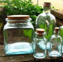 Square glass bottles for Feng Shui and travel kits