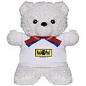 Peace Wow teddy bear from Roy Anthony Shabla
