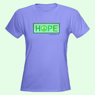Hope for Peace t-shirt